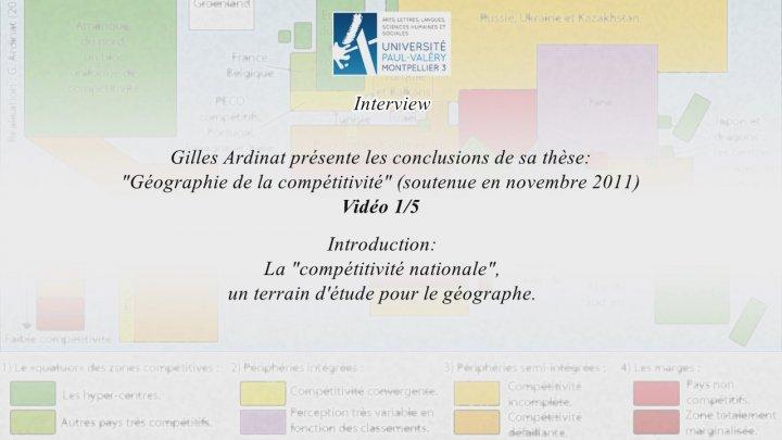 Géographie de la compétitivité - Thèse de Gilles Ardinat 01-05