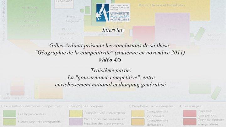 Géographie de la compétitivité - Thèse de Gilles Ardinat 04-05