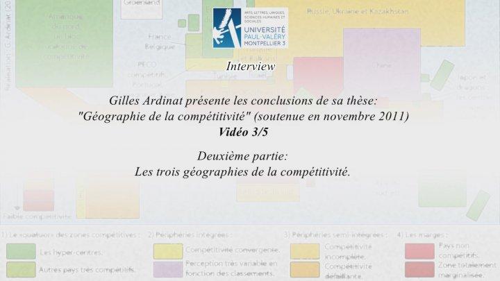 Géographie de la compétitivité - Thèse de Gilles Ardinat 03-05