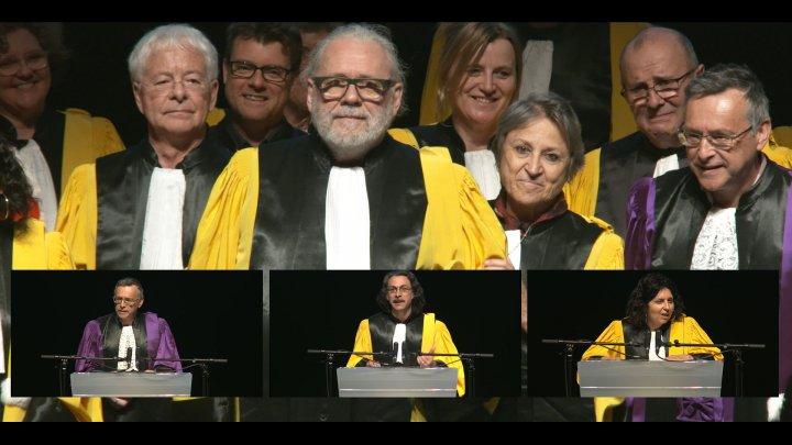 Remise du titre de Docteur Honoris Causa à André Gaudreault